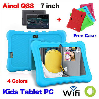 """7"""" Kid Tablet PC Android 7.1 1GB+16GB Quad Core 2 Camera 3G WIFI Christmas Gift"""