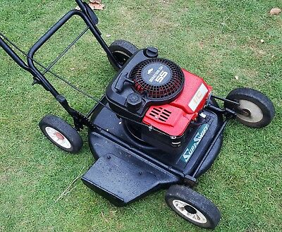"Lawn Slasher SupaSwift Briggs and Stratton 4 Stroke Petrol 21"" Deck Exc Cond"