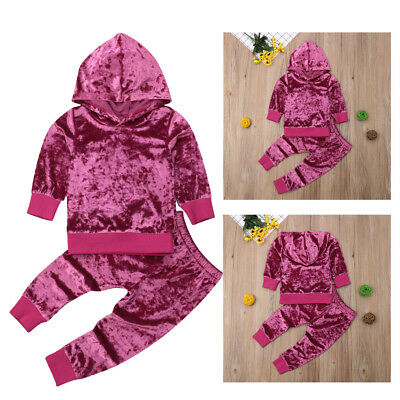 UK Toddler Baby Girls Winter Outfits Clothes Hoodie Tops+Pants Legging  2PCS Set