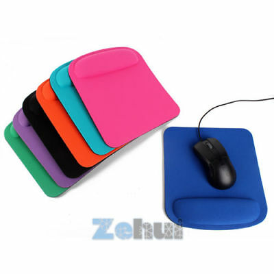UK Anti-Slip Gel Mouse Mat Mice Pad With Rest Wrist Comfort Support Laptop PC