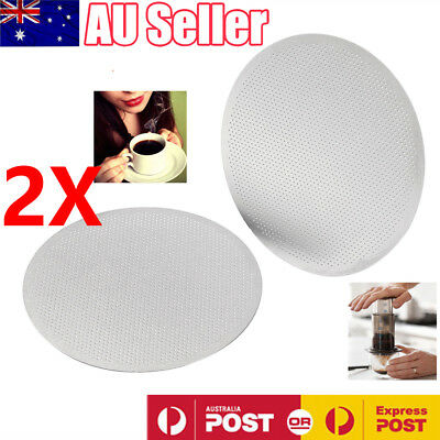 2PCS Fine Disk Filter Stainless Steel Mesh For Aeropress Coffee Espresso Maker