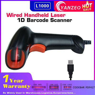 Yanzeo L1000 1D Portable USB Wired Handheld Laser Barcode Scanner For Store
