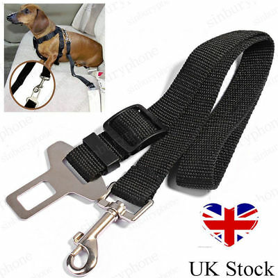 Dog Pet Car Safety Seat Belt Harness Restraint Strap Adjustable Lead Travel Clip