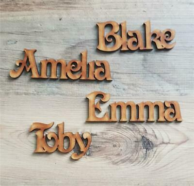 Personalised  Victorian font Script Names MDF Letters Words Books  Wood Weddings
