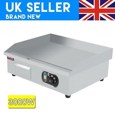 Commercial Stainless Steel Electric Griddle Flat Hotplate Grill BBQ 3000W