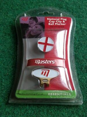 Masters national flag cap clip and ball marker new