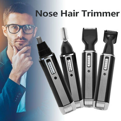 4 In 1 Nose Hair Remover Rechargeable Nose Ear Hair Cutter Trimmer Set Men Care