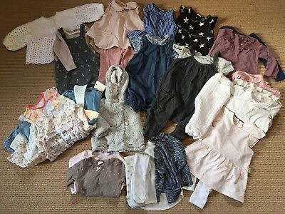 Baby Girls Clothes Bundle 6-9 Months Next, H&M and M&S