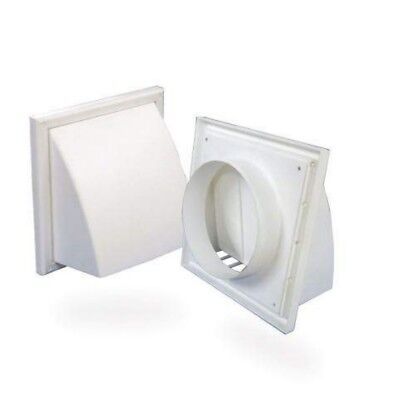 Air Vent / Cowled Wall Vent With Gravity Flap Neck size 125mm Face :187 x 187mm