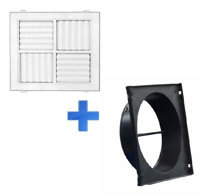 440 x440 Square Ceiling Outlet Vents /Multi Directional Outlet with Neck Adaptor