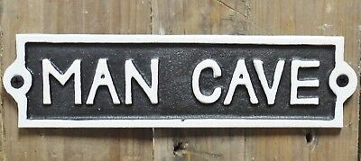 "Cast Iron Sign Rustic Style Sign ""Man Cave"""