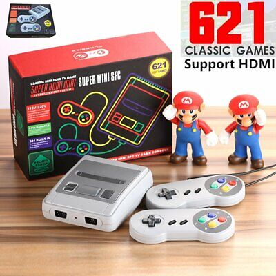 HDMI AV Mini Retro TV Game Console Built-in 621 Classic Games Gamepads Nintendo