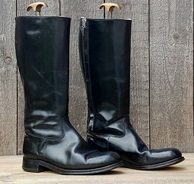Vtg Goldtop Trophy Motorcycle Boots Size Uk 9 Sheepskin Gth Cafe