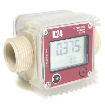 Red K24 Turbine Digital Diesel Fuel Flow Meter For Chemicals Water