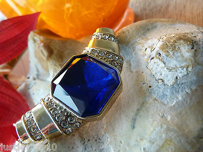 Victorian Necklace Statement Jewellery gift for her art deco X-mas Royal Blue