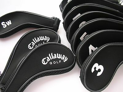 New Set of 11 x Callaway Iron Golf Club Head Covers 3,4,5,6,7,8,9,A,PW,SW,LW