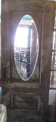 Turn of the Century Front Entry Decorative Oval Door 31-3/4 x 79-3/4 Shabby Chic