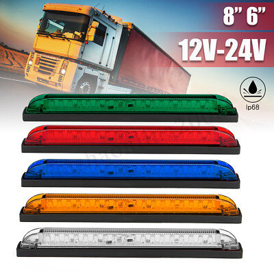 6 ' 8 ' led Side Marker Light Bar striscia posteriore nebbia lampada camion rimo