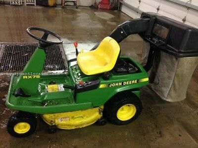 JOHN DEERE RX75 sit down lawnmower 9 horsepower Electric Start, well  maintained