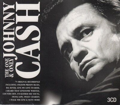 JOHNNY CASH - THE ONE AND ONLY - 3 x CD Boxed Set 2010 - New & Sealed B#P