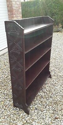 Victorian, Edwardian  Antique solid carved oak  bookcase