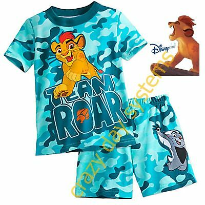 UV Protection Size 5//6 7//8 Disney Store The Lion Guard Rash Guard Boys Shirt 50