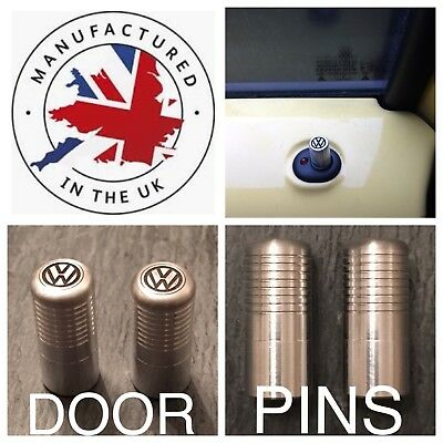 VW Golf Polo Beetle Jetta Caddy Lupo  Passat Boro T5 Silver Door Lock Pull Pins