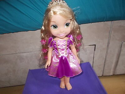 Disney Rapunzel Animator Toddler 36cm Doll, With Light- Up Hair By Jacks Pacific