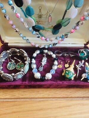 job lot of mixed  jewellery plus 925 Silver Rings,gold plated Earrings