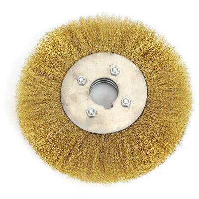 10'' Soft Copper Wire Wheel Brush Crimped Flat Brass Brush F Derusting Polishing