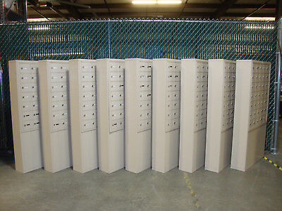 Salsbury Industries 35 Unit Cell Phone Locker w/ Standing Enclosure (Lot of 3)