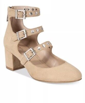 8955c98ae New $120 Charles David Lewis Block-Heel Pumps Ankle Straps Nude Suede Size  6.5