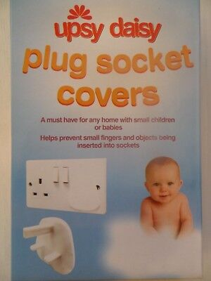 Plug Socket Covers, baby toddler electricity safety, 3, 6 or 12 pack, UK STOCK