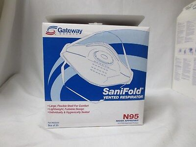 Gateway Safety 80202V Sanifold Vented N95 Particulate Respirators