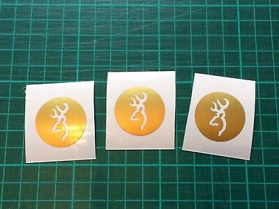 Browning Shotgun Crossbow x3 Sticker  Hunting trap clay Pigeon shooting