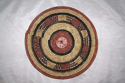 Coiled basket Mat, Fine African milk container lid from Mali/Republic of Niger