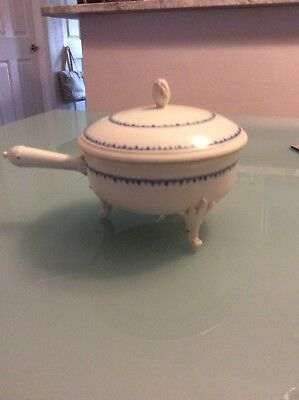 Rare Leeds English Porcelain Covered Footed Compote Ca 1800