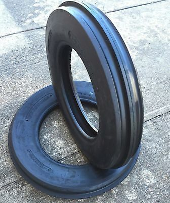 2-New 5.50-16 Tri-Rib 3 Rib Front Tractor Tire 8 PLY 5.50x16 Tubeless CropMaster