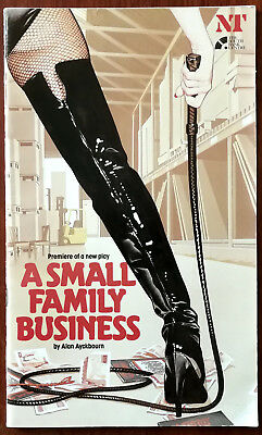 A Small Family Business by Alan Ayckbourn, National Theatre Programme 1987 + Tic