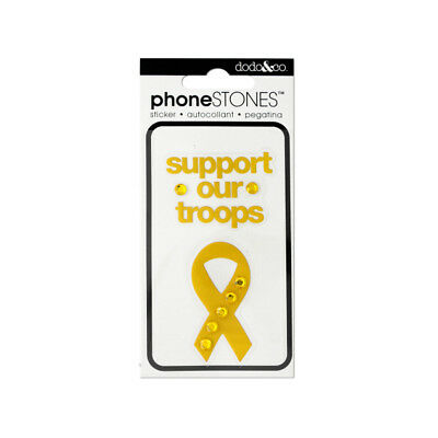 Set of 24 Bulk Lot Support Our Troops Phone Stones Stickers
