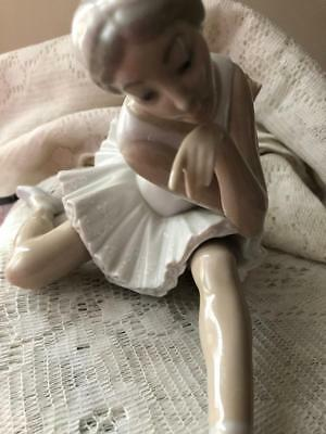 LLADRO RETIRED BALLERINA DEATH OF A SWAN FIGURINE #4855 PLUS* Don Quixote Plaque