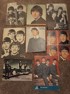 BEATLES 1963/64 collection of 8x original vintage teen magazine photos portraits