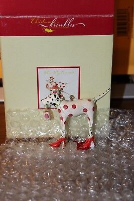 Krinkles Dept 56 Patience Brewster  Mini Dog Ornament Red Spotted Dalmation