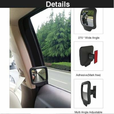 Car Rear Magnet Mirror 270 Degrees Wide Angle Rearview Mirror New BIN