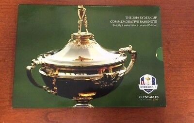 2014 Ryder Cup Golf Commemorative Banknote Scotland 5 Pounds