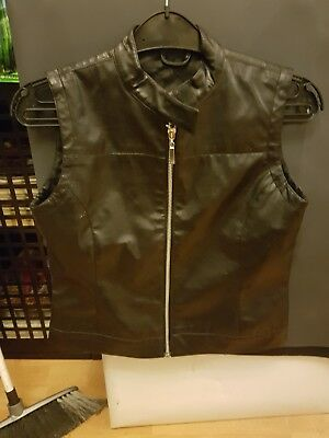 leather gillet