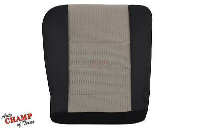 2008-2010 Ford F250 F350 XLT FX4 -Driver Side Bottom Cloth Seat Cover Black/Gray