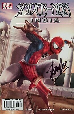 New Art Print Of Celebrity Autographed Spider-Man Comic Cover Stan Lee (3 Sizes)