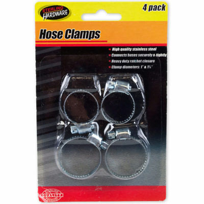 Set of 24 Bulk Lot Stainless Steel Hose Clamps