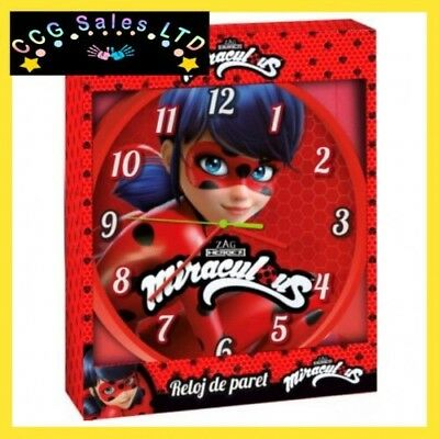 Official Miraculous Ladybug Wall Clock, Childrens Gift